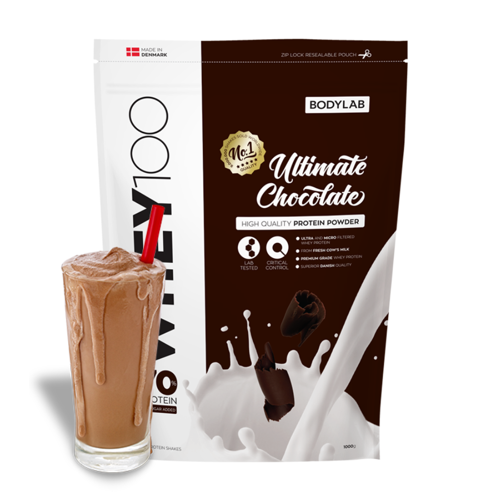 Image of   Bodylab Whey 100 - Ultimate Chocolate (1 kg)