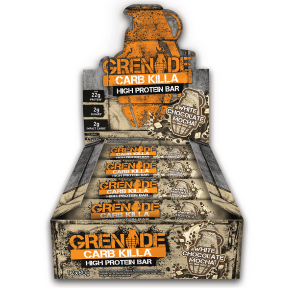Grenade Carb Killa White Chocolate Mocha (12x60g) - Musclehouse.dk