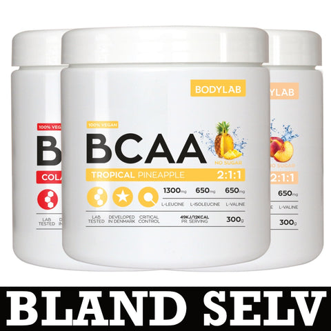 Bodylab BCAA Instant (3x300g) - Musclehouse.dk
