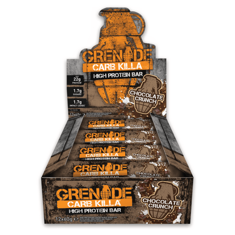 Grenade Carb Killa Chocolate Crunch (12x60g) - Musclehouse.dk