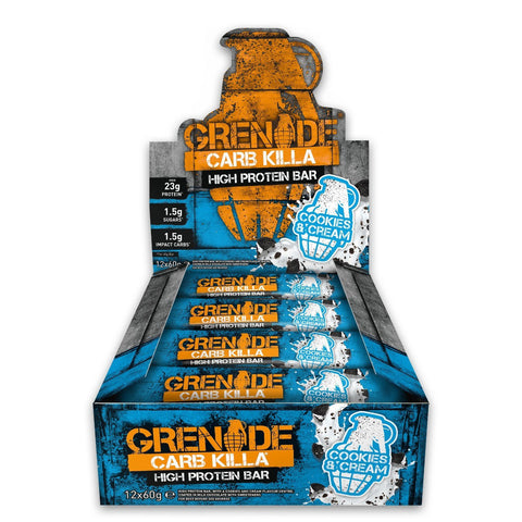 Grenade Carb Killa Cookies and Cream (12x60g) - Musclehouse.dk