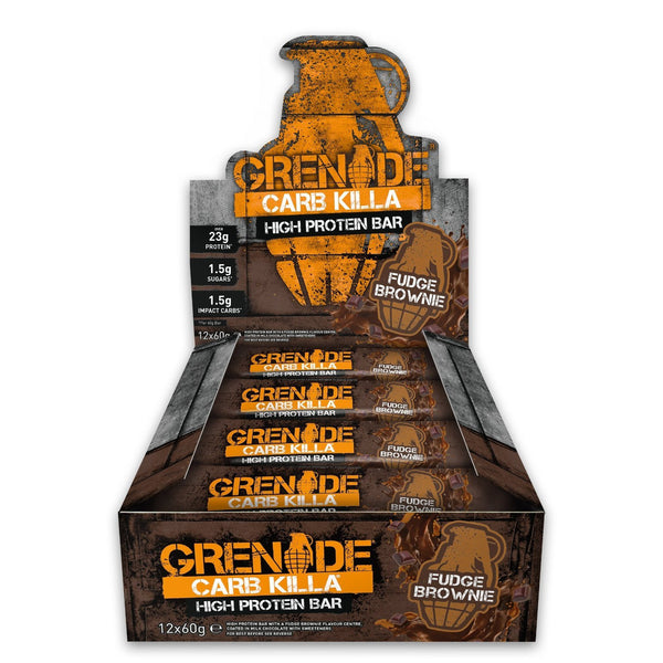 Grenade Carb Killa Fudge Brownie (12x60g) - Musclehouse.dk