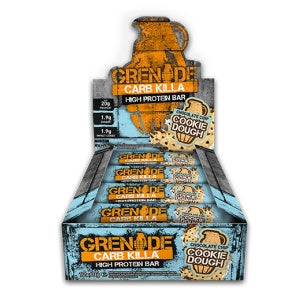 Grenade Carb Killa Chocolate Chip Cookie Dough (12x60g) - Musclehouse.dk