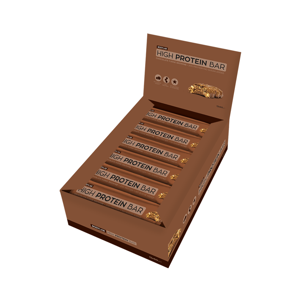 Image of   Bodylab Superior Protein Bar - Chocolate Fudge Brownie (12x60g)