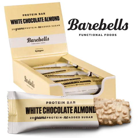 Barebells Protein Bar White Chocolate Almond (12x 55g) - Musclehouse.dk