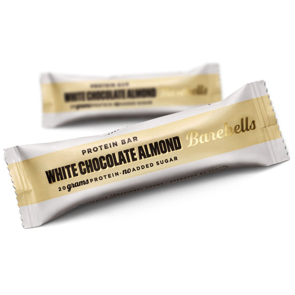 Barebells Protein Bar White Chocolate Almond (55g) - Musclehouse.dk