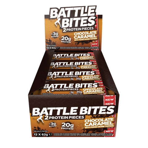 Battle Oats High Protein Battle Bites - Chocolate Caramel (12x62g) - Musclehouse.dk