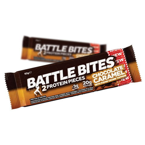 Battle Oats High Protein Battle Bites - Chocolate Caramel (62g) - Musclehouse.dk