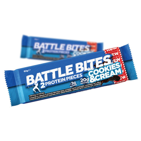 Battle Oats High Protein Battle Bites - Cookies & Cream (62g) - Musclehouse.dk