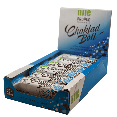 Njie ProPud Protein Bar - Choklad Boll (12x55g) - Musclehouse.dk