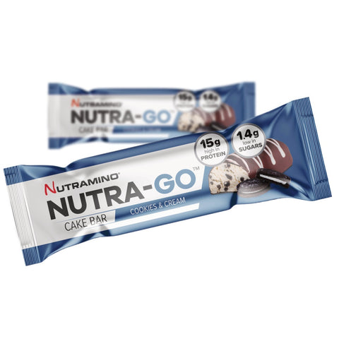 Nutramino Nutra-Go Cake Bar - Cookies & Cream (57g) - Musclehouse.dk