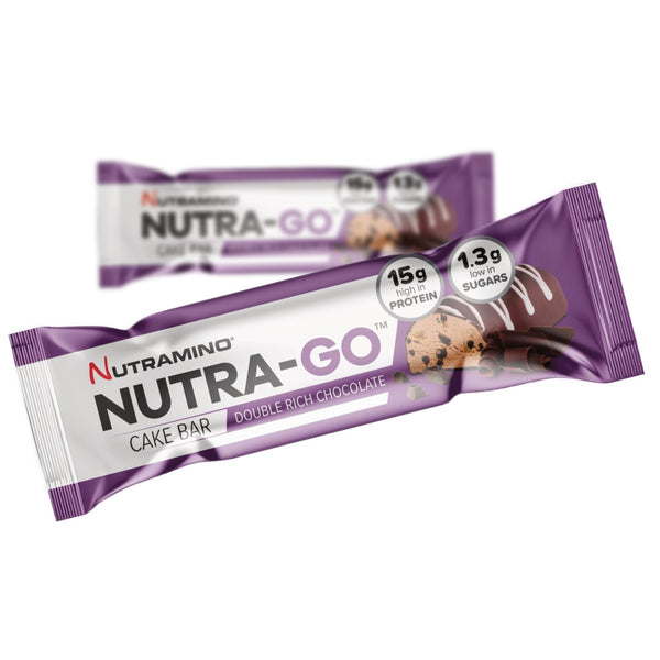 Nutramino Nutra-Go Cake Bar - Double Rich Chocolate (57g) - Musclehouse.dk
