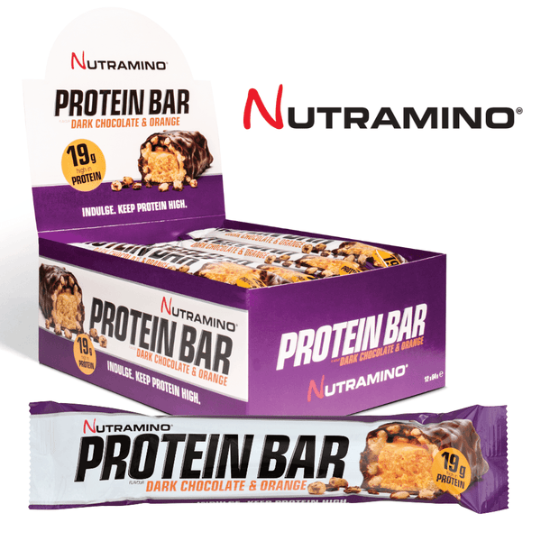 Nutramino Proteinbar Dark Chocolate & Orange (12x64g) - Musclehouse.dk