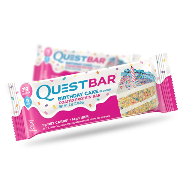 Quest Protein Bar Birthday Cake (60g) - Musclehouse.dk