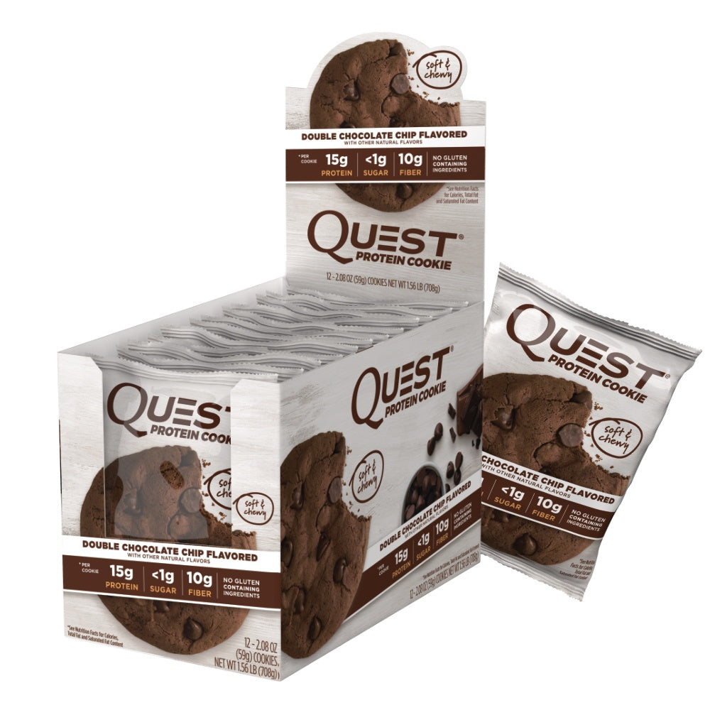 Billede af Quest Protein Cookie - Double Chocolate Chip (12x59g)