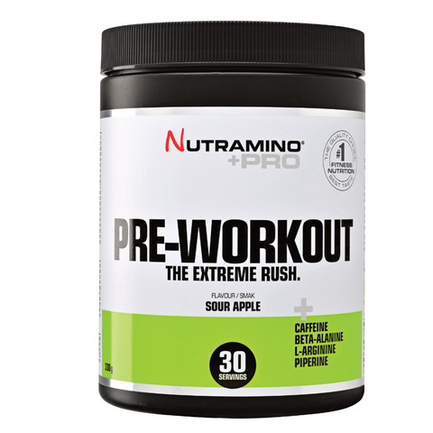 Nutramino Pre-Workout Sour Apple (315g) - Musclehouse.dk