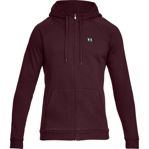 Tøj - Under Armour Rival Fleece FZ Hoody - Red