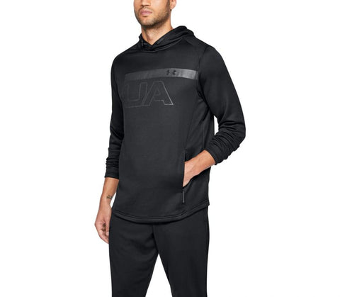 Tøj - Under Armour Tech Terry PO Graphic Hoodie - Black