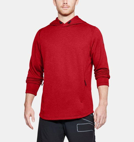 Tøj - Under Armour Tech Terry PO Graphic Hoodie - Red Pierce