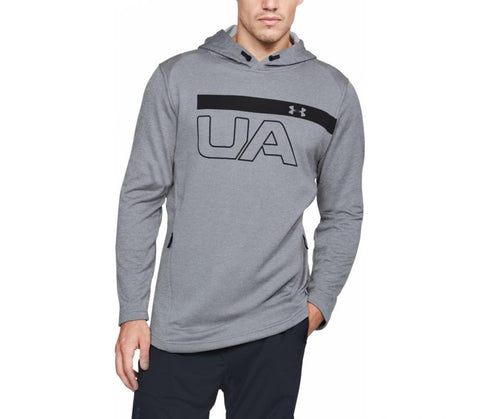 Tøj - Under Armour Tech Terry PO Graphic Hoodie - Steel
