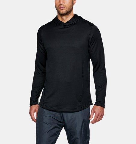 Tøj - Under Armour Tech Terry Popover Hoodie - Black