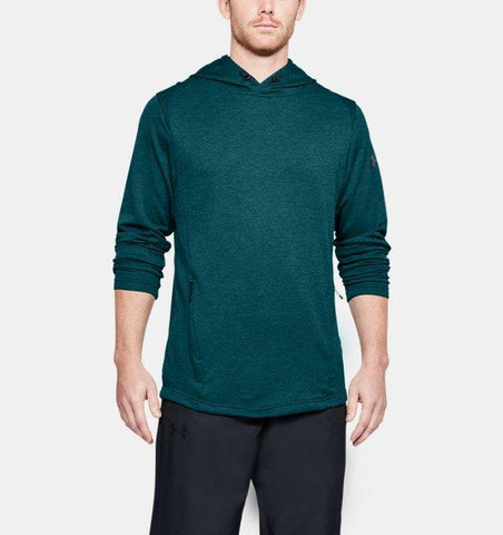 Tøj - Under Armour Tech Terry Popover Hoodie - Green