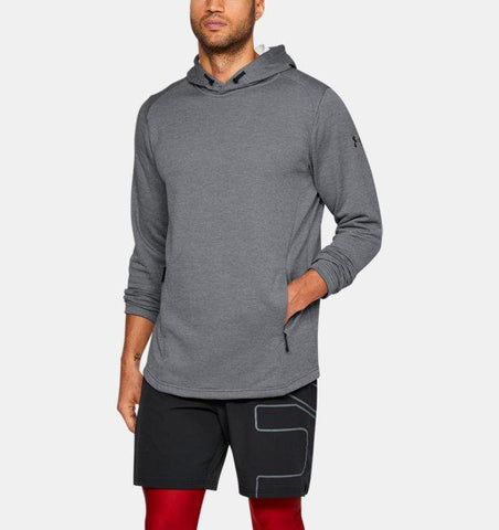 Tøj - Under Armour Tech Terry Popover Hoodie - Steel