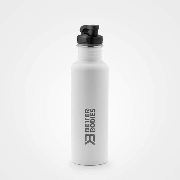 Better Bodies Fulton Bottle 750ml White - Musclehouse.dk