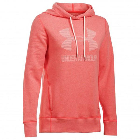 Under Armour Favorite Fleece Sportstyle Hoodie - Pink - Musclehouse.dk