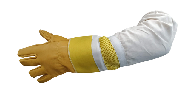 Heavy Duty Ventilated Leather Bee Gloves - Long