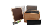 3/4 Depth Wooden Beehive Package with Plastic frames.