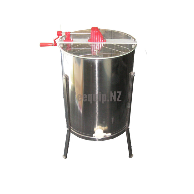 4 Frame Manual Honey Extractor. 304 Grade Stainless Steel