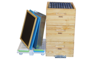 Full Depth Wooden Beehive Package with Plastic frames.