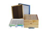 Full Depth Wooden Beehive Package with wooden frames.