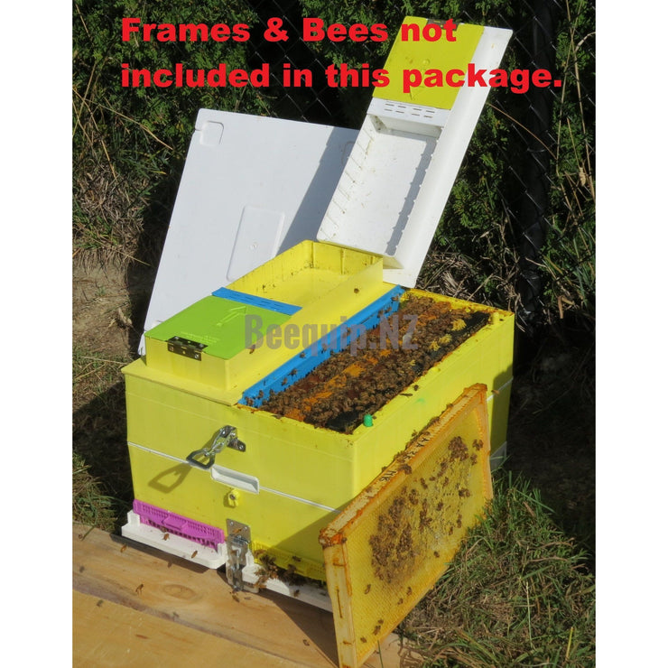 Technosetbee 2x5 Frame Full Depth Nucleus Beehive Package.