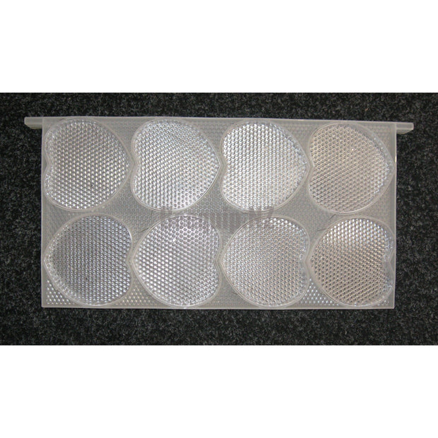 Comb Honey Frame for 16 Heart-shape Honey Containers.