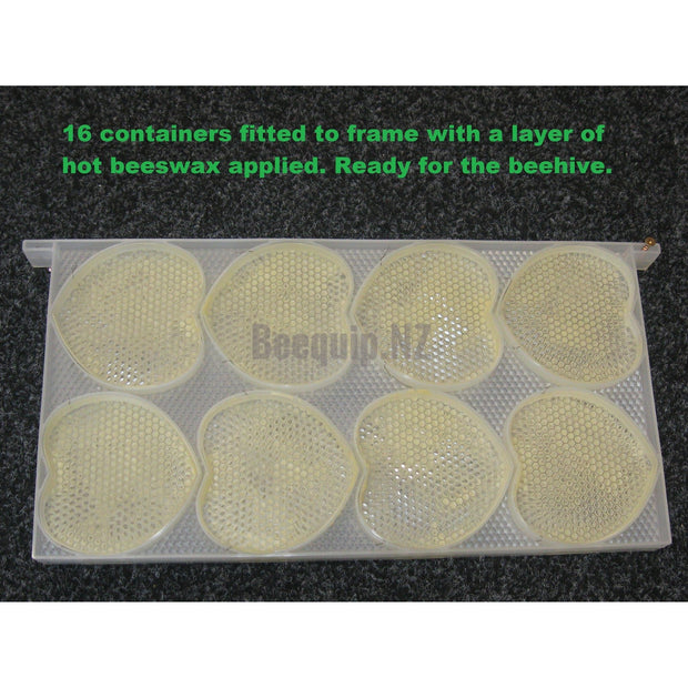 Heart Shape Comb Honey Full Depth Frame - Fits 16 Containers