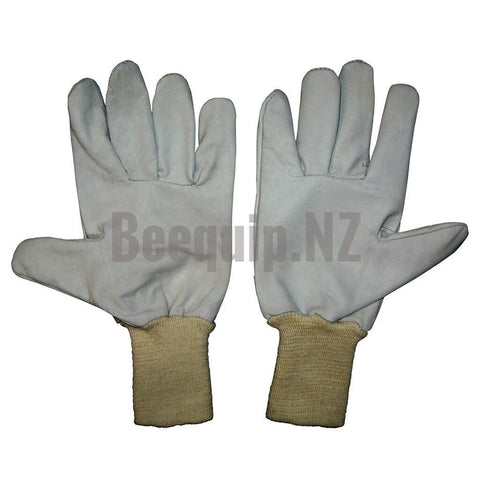 Short Leather Bee Gloves.