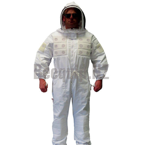 Bee Suit with Air Vents - White