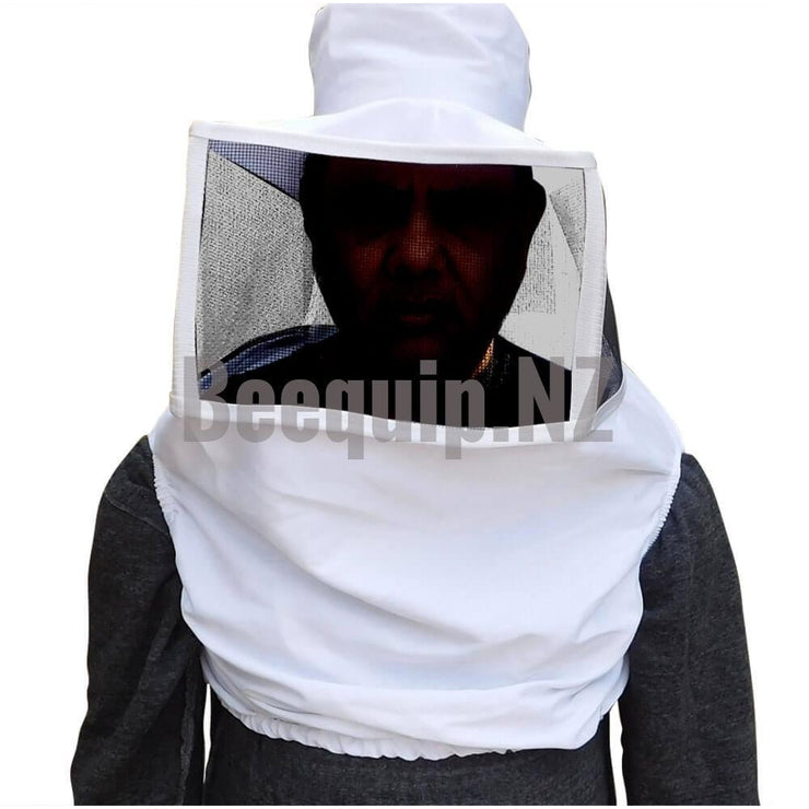 Shoulder Bee Veil. Square steel Mesh with elastic straps.