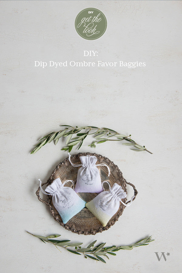 DIY Wedding: Awesome Ombre – Dip Dyed Favour Bags
