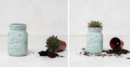 DIY SUCCULENT MINI MASON JAR WEDDING FAVOURS