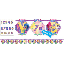 Load image into Gallery viewer, Shimmer & Shine Birthday Banner Kit