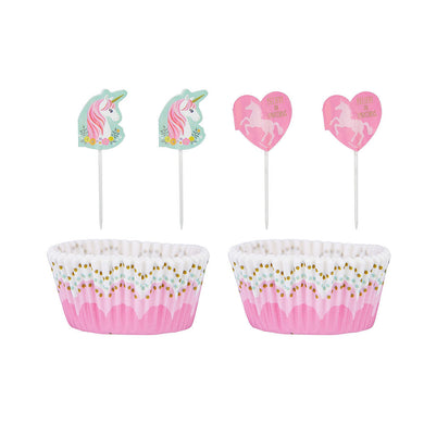 Magical Unicorn 24 Cupcake Decorating Kit