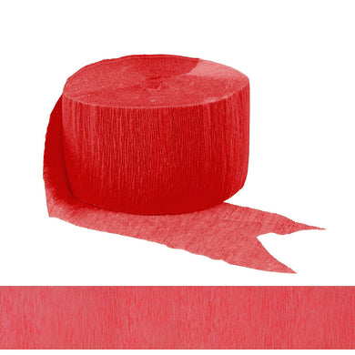 Holiday Red Crepe Paper Streamer