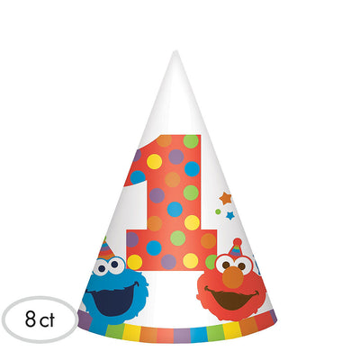 Elmo 1st Birthday Paper Party Hats