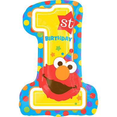 Giant 1st Birthday Elmo Super Shape Foil Balloon