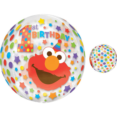 1st Birthday Elmo XL Orbz Foil Balloon