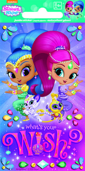 Jumbo Shimmer & Shine Favour Stickers