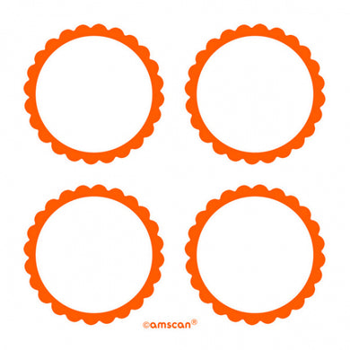 Orange Scalloped Labels